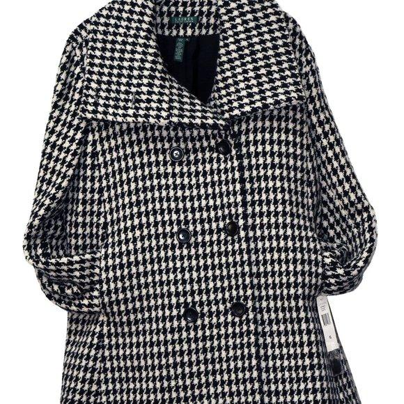 Ralph Lauren  Houndstooth Wool Blend  Jacket, XL